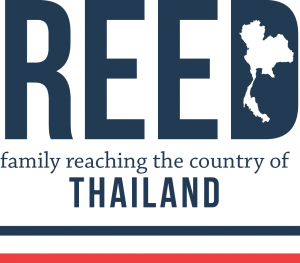reed logo with stripes
