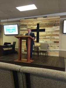Chris preaching in Michigan